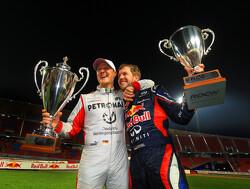 """Sebastian Vettel: """"Hamilton mag records van Schumacher niet breken"""""""