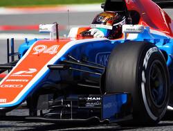 King in actie voor Manor tijdens testsessie na GP Spanje