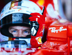 Vettel vandaag achter het stuur van de SF-15T