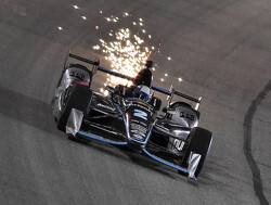 Juan Pablo Montoya going all out for the win in season finale