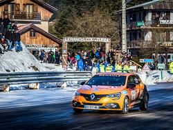 Sainz in actie tijdens de Monte Carlo Rally