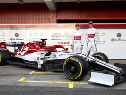 Alfa Romeo launch 2019 car in Barcelona pit lane