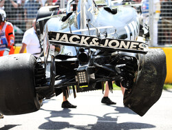Uitbreken auto en velg tegen muur veroorzaakten crash Magnussen in Q2