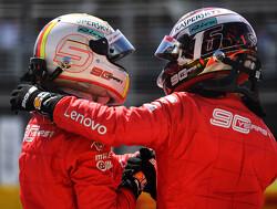 Charles Leclerc bedankt Sebastian Vettel voor leerzame ervaring