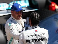 """Bottas baalt: """"Kon het tempo van Hamilton gewoon niet volgen"""""""