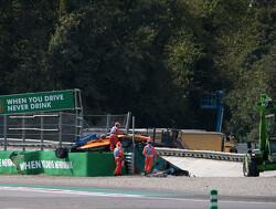 Peroni wacht langere herstelperiode na horrorcrash op Monza