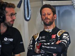 Grosjean hangt Haas-bolide in de muur tijdens VT2 in Verenigde Staten