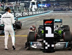 De startopstelling voor de Grand Prix van Abu Dhabi 2019