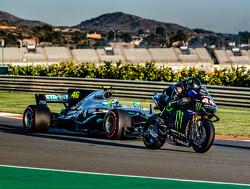 Hamilton and Rossi swap rides