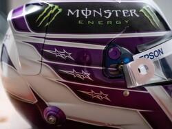 Hamilton unveils revised helmet livery for 2020