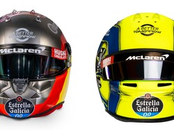 Sainz and Norris present their 2020 helmets