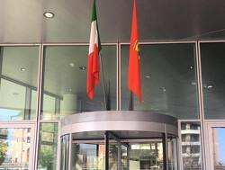 Ferrari raises race winning flag at Maranello for Leclerc's virtual victory