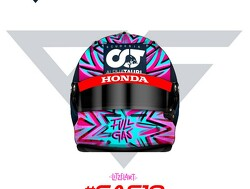 Gasly unveils striking helmet design for 2020 season opener