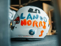 Norris unveils helmet designed by young fan for British GP