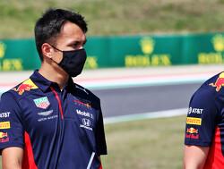 Red Bull-teambaas Christian Horner in zijn nopjes met podium voor Alexander Albon