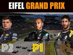 Max Verstappen verliest van Lewis Hamilton die Eifel Grand Prix wint