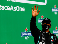 Hamilton wint GP in Portugal en pakt record, Max Verstappen weer op het podium