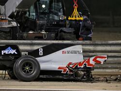 Ted Kravitz laat schade crash Romain Grosjean zien