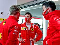 Marcus Armstrong test met een Ferrari SF71H uit 2018 op Fiorano