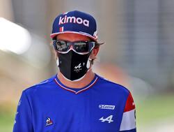Fernando Alonso is nog niet helemaal 100 procent