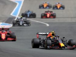 """Perez na derde plek GP Frankrijk: """"Auto was eerst vrij onbestuurbaar, maar kwamen daarna in een goed ritme"""""""