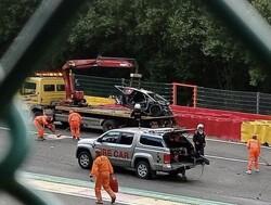 Megacrash tijdens Spa24H, Lamborghini totaal verwoest