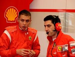 <b>Vandaag de dag</b>: Valentino Rossi achter het stuur van de Ferrari F2004