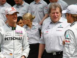 """Voormalig Mercedes-baas Haug: """"Hamilton dwong Schumacher niet tot vertrek bij Mercedes"""""""