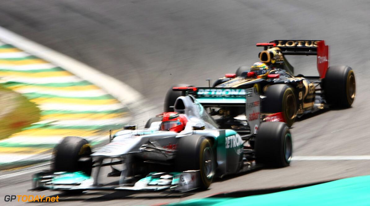 Michael Schumacher zorgde voor meeste inhaalacties in 2011
