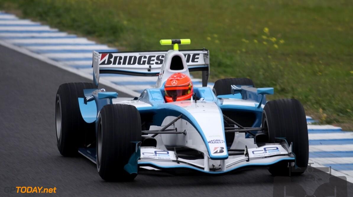 Foto's: Michael Schumacher begint aan GP2-test op Jerez