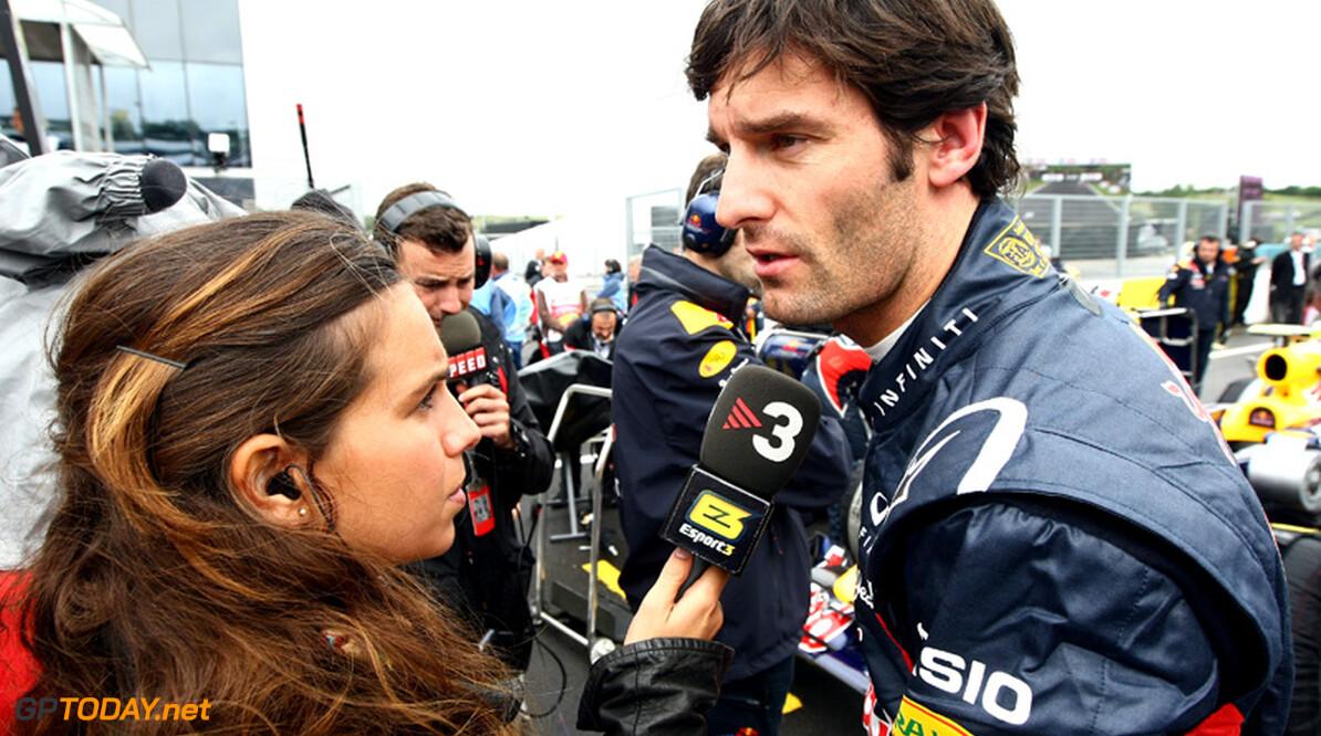VT2: Mark Webber rijdt snelste tijd voor Alonso en Button