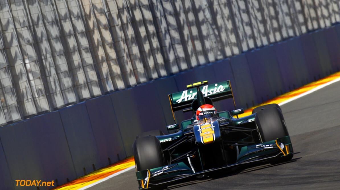 Team Lotus verlost Trulli in Hongarije met nieuwe stuurbekrachtiging