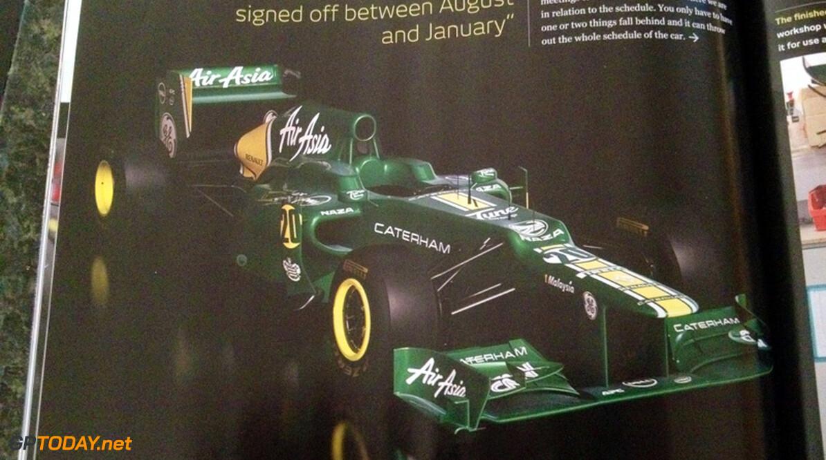 Eerste foto's van nieuwe Caterham F1 Team CT01 uitgelekt