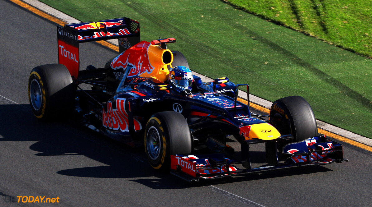 141015510KR030_Australian_F MELBOURNE, AUSTRALIA - MARCH 18:  Sebastian Vettel of Germany and Red Bull Racing drives during the Australian Formula One Grand Prix at the Albert Park circuit on March 18, 2012 in Melbourne, Australia.  (Photo by Mark Thompson/Getty Images) *** Local Caption *** Sebastian Vettel Australian F1 Grand Prix - Race Mark Thompson Melbourne Australia  Formula One Racing F1