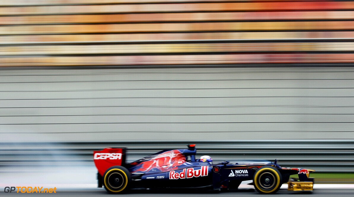 141015612KR256_Chinese_F1_G SHANGHAI, CHINA - APRIL 13:  Daniel Ricciardo of Australia and Scuderia Toro Rosso drives during practice for the Chinese Formula One Grand Prix at the Shanghai International Circuit on April 13, 2012 in Shanghai, China.  (Photo by Paul Gilham/Getty Images) *** Local Caption *** Daniel Ricciardo Chinese F1 Grand Prix - Practice Paul Gilham Shanghai China  Formula One Racing F1