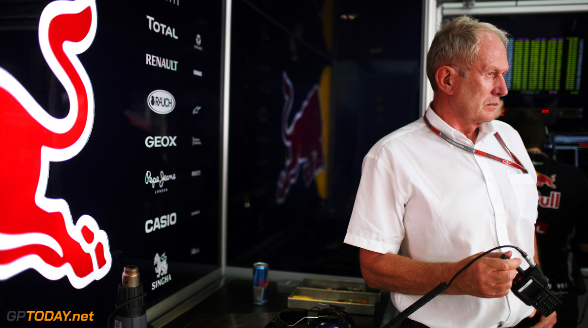 141015632KR370_Bahrain_F1_G SAKHIR, BAHRAIN - APRIL 20:  Red Bull Racing Motorsport Consultant Dr Helmut Marko is seen during practice for the Bahrain Formula One Grand Prix at the Bahrain International Circuit on April 20, 2012 in Sakhir, Bahrain.  (Photo by Mark Thompson/Getty Images) *** Local Caption *** Helmut Marko Bahrain F1 Grand Prix - Practice Mark Thompson Sakhir Bahrain  Formula One Racing F1