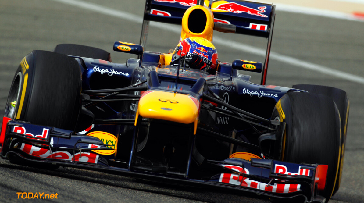 141015632KR255_Bahrain_F1_G SAKHIR, BAHRAIN - APRIL 20:  Mark Webber of Australia and Red Bull Racing drives during practice for the Bahrain Formula One Grand Prix at the Bahrain International Circuit on April 20, 2012 in Sakhir, Bahrain.  (Photo by Paul Gilham/Getty Images) *** Local Caption *** Mark Webber Bahrain F1 Grand Prix - Practice Paul Gilham Sakhir Bahrain  Formula One Racing F1