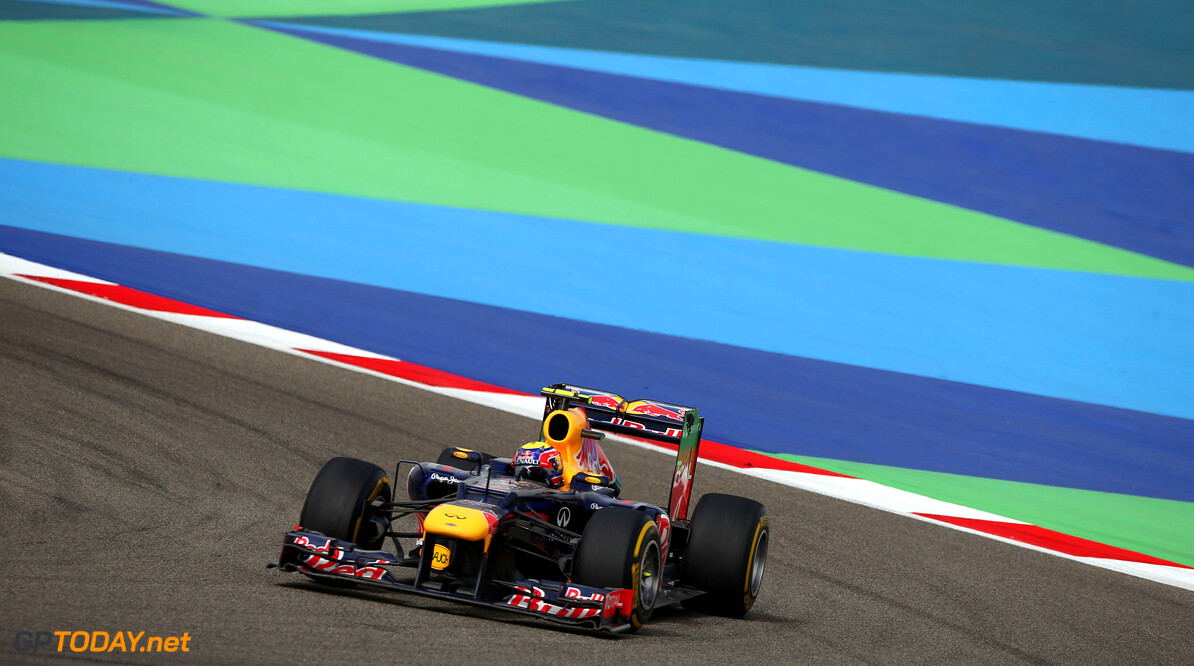 141015639KR248_Bahrain_F1_G SAKHIR, BAHRAIN - APRIL 22:  Mark Webber of Australia and Red Bull Racing drives during the Bahrain Formula One Grand Prix at the Bahrain International Circuit on April 22, 2012 in Sakhir, Bahrain.  (Photo by Clive Mason/Getty Images) *** Local Caption *** Mark Webber Bahrain F1 Grand Prix - Race Clive Mason Sakhir Bahrain  Formula One Racing F1