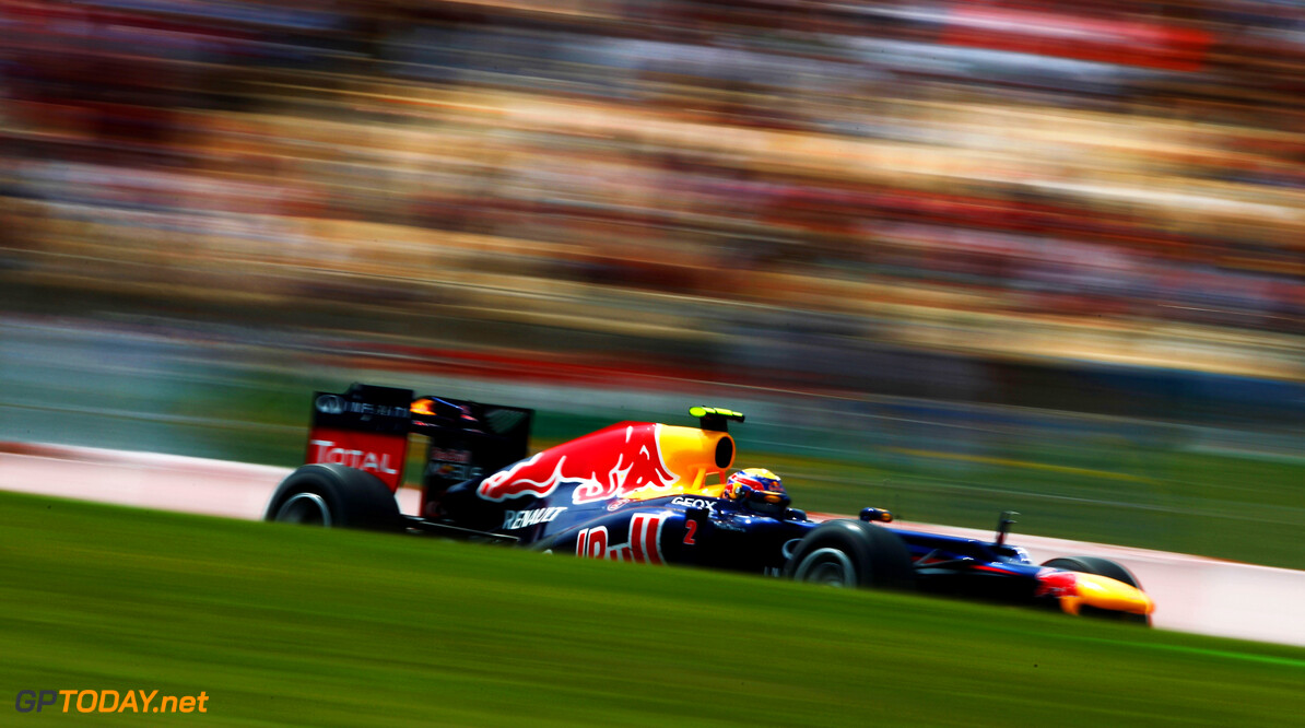 141017293KR069_Spanish_F1_G BARCELONA, SPAIN - MAY 13:  Mark Webber of Australia and Red Bull Racing drives during the Spanish Formula One Grand Prix at the Circuit de Catalunya on May 13, 2012 in Barcelona, Spain.  (Photo by Paul Gilham/Getty Images) *** Local Caption *** Mark Webber Spanish F1 Grand Prix - Race Paul Gilham Barcelona Spain  Formula One Racing F1