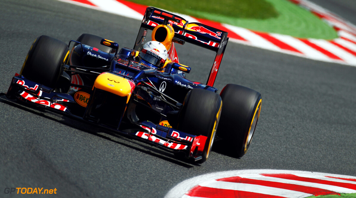 141017288KR119_Spanish_F1_G BARCELONA, SPAIN - MAY 12:  Sebastian Vettel of Germany and Red Bull Racing drives during qualifying for the Spanish Formula One Grand Prix at the Circuit de Catalunya on May 12, 2012 in Barcelona, Spain.  (Photo by Paul Gilham/Getty Images) *** Local Caption *** Sebastian Vettel Spanish F1 Grand Prix - Qualifying Paul Gilham Barcelona Spain  Formula One Racing F1
