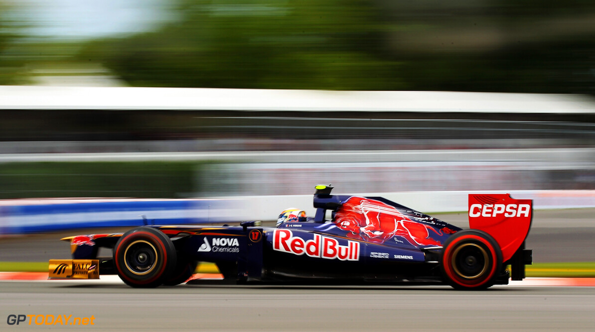 141017525KR196_Canadian_F1_ MONTREAL, CANADA - JUNE 08:  Jean-Eric Vergne of France and Scuderia Toro Rosso drives during practice for the Canadian Formula One Grand Prix at the Circuit Gilles Villeneuve on June 8, 2012 in Montreal, Canada.  (Photo by Mark Thompson/Getty Images) *** Local Caption *** Jean-Eric Vergne Canadian F1 Grand Prix - Practice Mark Thompson Montreal Canada  Formula One Racing F1