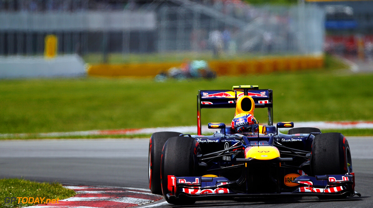 141017537KR024_Canadian_F1_ MONTREAL, CANADA - JUNE 10:  Mark Webber of Australia and Red Bull Racing drives during the Canadian Formula One Grand Prix at the Circuit Gilles Villeneuve on June 10, 2012 in Montreal, Canada.  (Photo by Paul Gilham/Getty Images) *** Local Caption *** Mark Webber Canadian F1 Grand Prix - Race Paul Gilham Montreal Canada  Formula One Racing F1