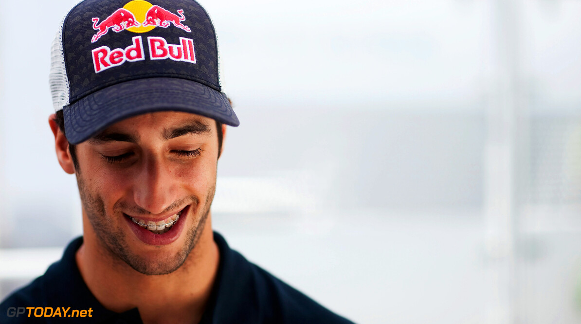 141017524KR069_Canadian_F1_ MONTREAL, CANADA - JUNE 07:  Daniel Ricciardo of Australia and Scuderia Toro Rosso is interviewed by the media during previews to the Canadian Formula One Grand Prix at the Circuit Gilles Villeneuve on June 7, 2012 in Montreal, Canada.  (Photo by Peter Fox/Getty Images) *** Local Caption *** Daniel Ricciardo Canadian F1 Grand Prix - Previews Peter Fox Montreal Canada  Formula One Racing F1