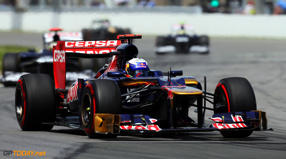 141017537KR133_Canadian_F1_ MONTREAL, CANADA - JUNE 10:  Daniel Ricciardo of Australia and Scuderia Toro Rosso drives during the Canadian Formula One Grand Prix at the Circuit Gilles Villeneuve on June 10, 2012 in Montreal, Canada.  (Photo by Mark Thompson/Getty Images) *** Local Caption *** Daniel Ricciardo Canadian F1 Grand Prix - Race Mark Thompson Montreal Canada  Formula One Racing F1