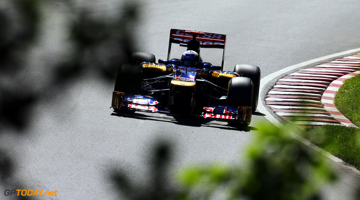 141017529KR033_Canadian_F1_ MONTREAL, CANADA - JUNE 09:  Daniel Ricciardo of Australia and Scuderia Toro Rosso drives during the final practice session prior to qualifying for the Canadian Formula One Grand Prix at the Circuit Gilles Villeneuve on June 9, 2012 in Montreal, Canada.  (Photo by Mark Thompson/Getty Images) *** Local Caption *** Daniel Ricciardo Canadian F1 Grand Prix - Qualifying Mark Thompson Montreal Canada  Formula One Racing F1