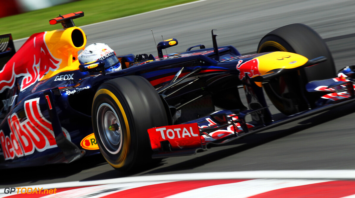 141017537KR104_Canadian_F1_ MONTREAL, CANADA - JUNE 10:  Sebastian Vettel of Germany and Red Bull Racing drives during the Canadian Formula One Grand Prix at the Circuit Gilles Villeneuve on June 10, 2012 in Montreal, Canada.  (Photo by Mark Thompson/Getty Images) *** Local Caption *** Sebastian Vettel Canadian F1 Grand Prix - Race Mark Thompson Montreal Canada  Formula One Racing F1