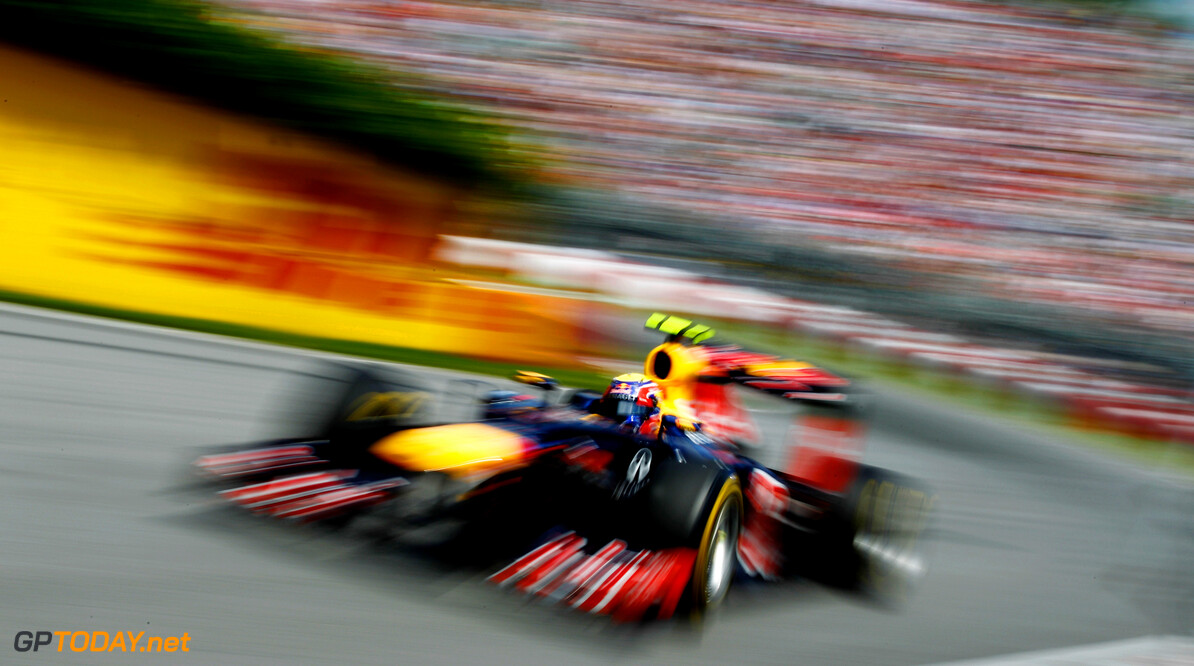141017537KR067_Canadian_F1_ MONTREAL, CANADA - JUNE 10:  Mark Webber of Australia and Red Bull Racing drives during the Canadian Formula One Grand Prix at the Circuit Gilles Villeneuve on June 10, 2012 in Montreal, Canada.  (Photo by Paul Gilham/Getty Images) *** Local Caption *** Mark Webber Canadian F1 Grand Prix - Race Paul Gilham Montreal Canada  Formula One Racing F1