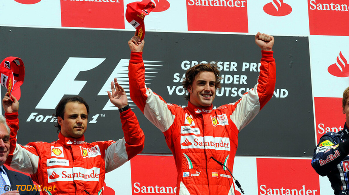 Fernando Alonso wint in Duitsland na teamorder Massa