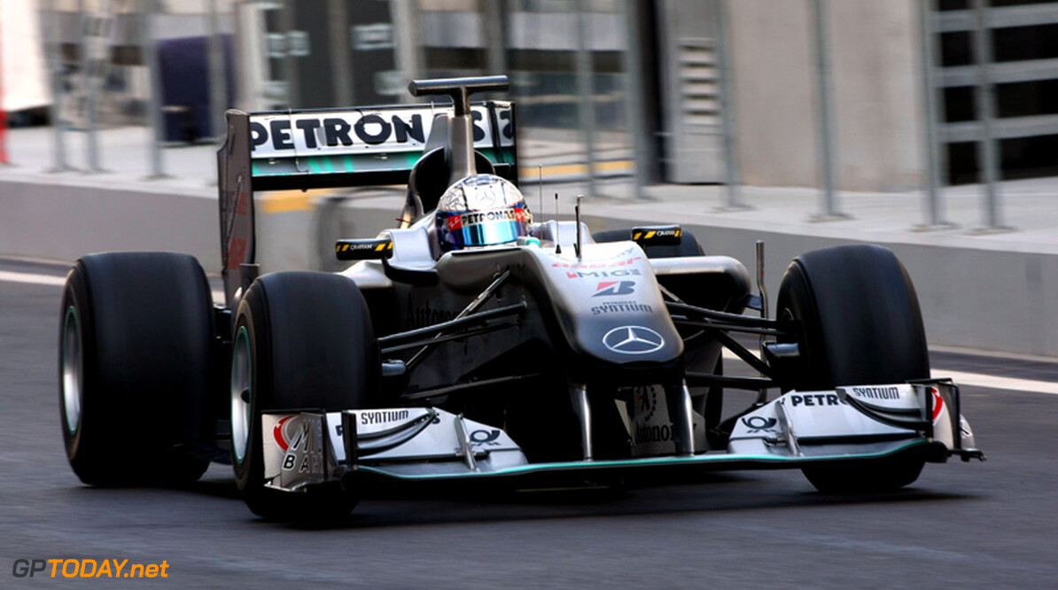 ABU DHABI, UNITED ARAB EMIRATES - NOVEMBER 16: Sam Bird of Great Britain and Mercedes GP F1 Team in action during the Young Driver Testing at the Yas Marina Circuit on November 16, 2010 in Abu Dhabi, United Arab Emirates. (Photo by Andrew Hone/Getty Images)   Andrew Hone