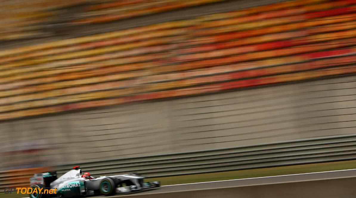 2011 Chinese Grand Prix -  Friday Shanghai International Circuit, Shanghai, China 15th April 2011 Michael Schumacher (GER), Mercedes GP   World Copyright: Andrew Hone / Formula Press / LAT Photographic